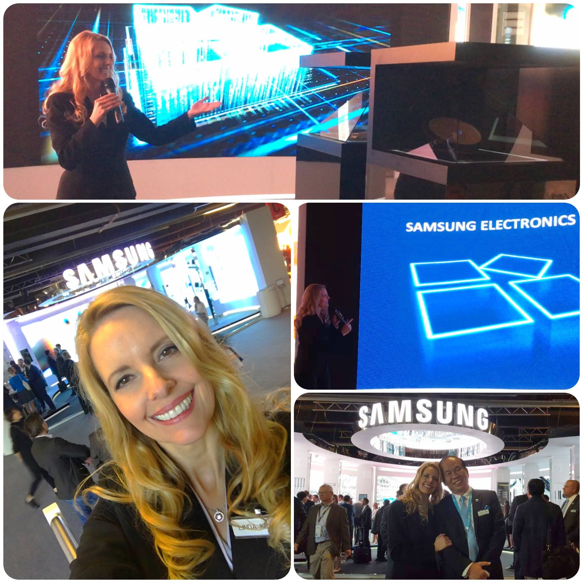 Speaking in Germany for Samsung